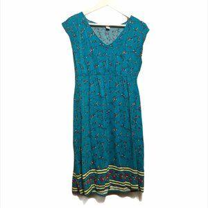 🐠2/$20 Old Navy Teal Floral Dress